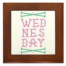 Wednesday Framed Tile