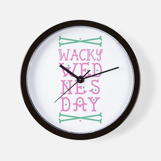 Wacky Wednesday Wall Clock