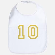 GOLD #10 Bib