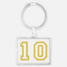 GOLD #10 Landscape Keychain