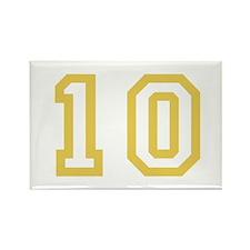 GOLD #10 Rectangle Magnet