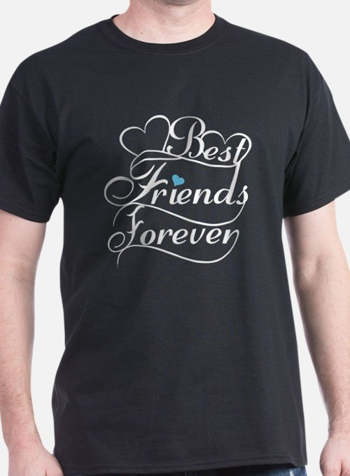 Best friends forever t shirts shirts tees custom best for Best couple t shirt design