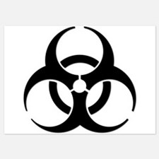 Biohazard Symbol Invitations