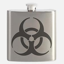 Biohazard Symbol Flask