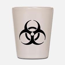 Biohazard Symbol Shot Glass