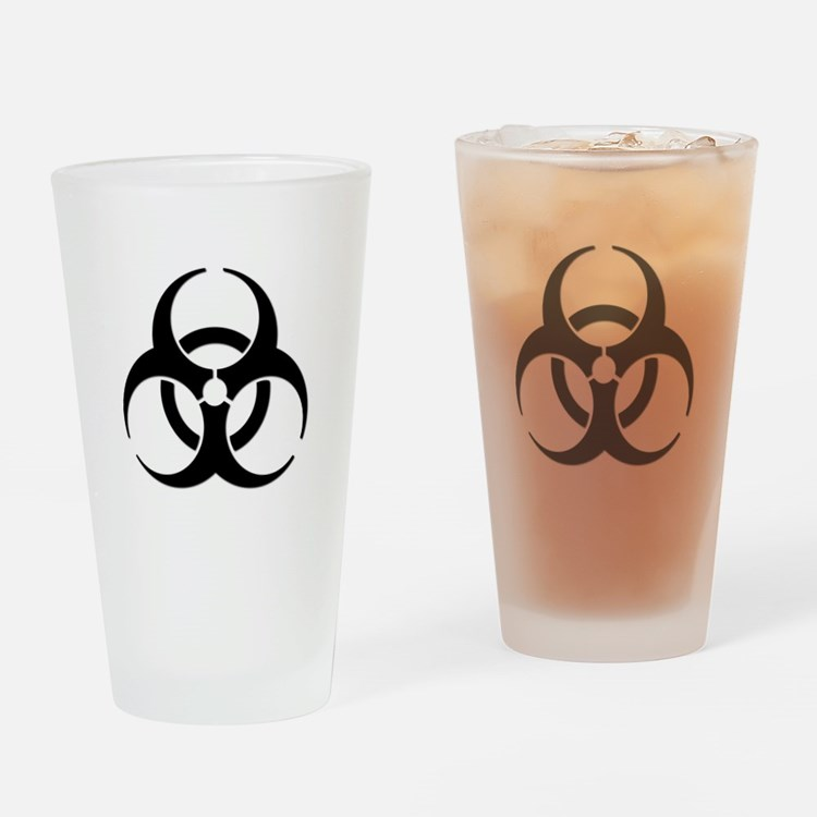 Biohazard Symbol Drinking Glass