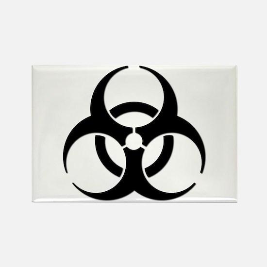 Biohazard Symbol Rectangle Magnet