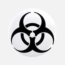 """Biohazard Symbol 3.5"""" Button (100 pack)"""