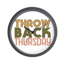 Throwback Thursday Wall Clock