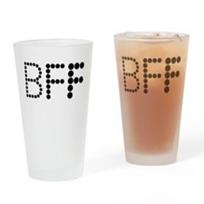 BEST FRIENDS FOREVER COUPLES DESIGN Drinking Glass