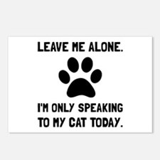 Alone Speaking Cat Postcards (Package of 8)
