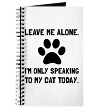 Alone Speaking Cat Journal