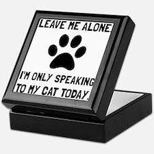 Alone Speaking Cat Keepsake Box