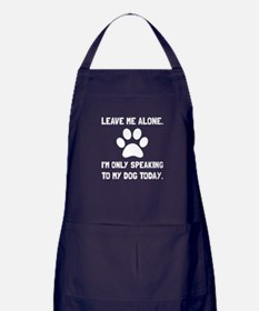 Alone Speaking Dog Apron (dark)