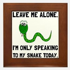 Alone Speaking Snake Framed Tile