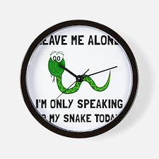 Alone Speaking Snake Wall Clock