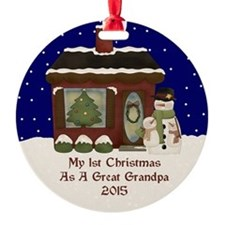 1St Christmas As A Great Grandpa 2015 Ornament