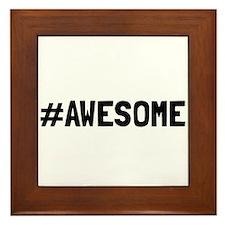 Hashtag Awesome Framed Tile