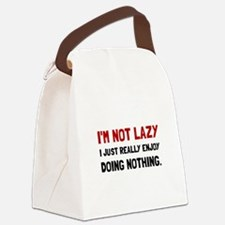 I Am Not Lazy Canvas Lunch Bag
