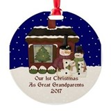 Great grandparents Round Ornament