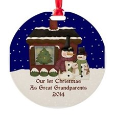 1St Christmas Great Grandparents 2014 Ornament