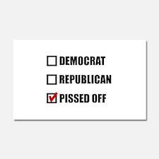Pissed Off Voter Car Magnet 20 x 12