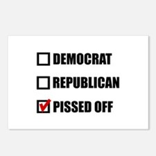 Pissed Off Voter Postcards (Package of 8)