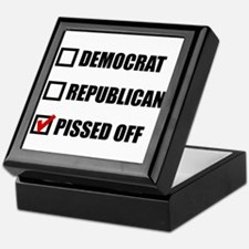 Pissed Off Voter Keepsake Box