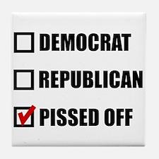 Pissed Off Voter Tile Coaster