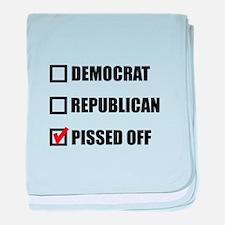 Pissed Off Voter baby blanket