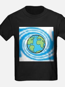 Earth on Blue Swirl T-Shirt