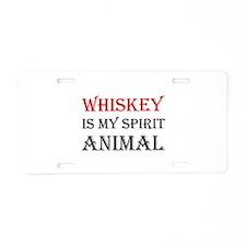 Whiskey Spirit Animal Aluminum License Plate