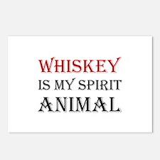 Whiskey Spirit Animal Postcards (Package of 8)