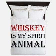 Whiskey Spirit Animal Queen Duvet