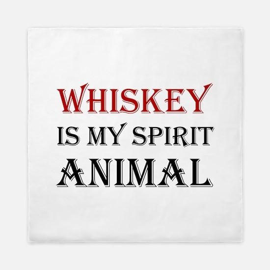 Whiskey Spirit Animal Queen Duvet