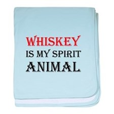 Whiskey Spirit Animal baby blanket