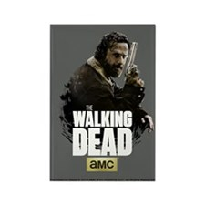 TWD Rick Hunt or Be Hunted Rectangle Magnet
