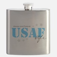USAF Wife - Always and Forever Flask