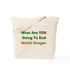 End World Hunger Tote Bag