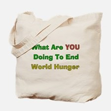 End World Hunger Tote Bag