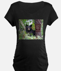 Baby Black Bear - Psalms 62-6 Maternity T-Shirt