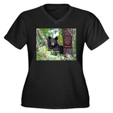 Baby Black Bear - Psalms 62-6 Plus Size T-Shirt