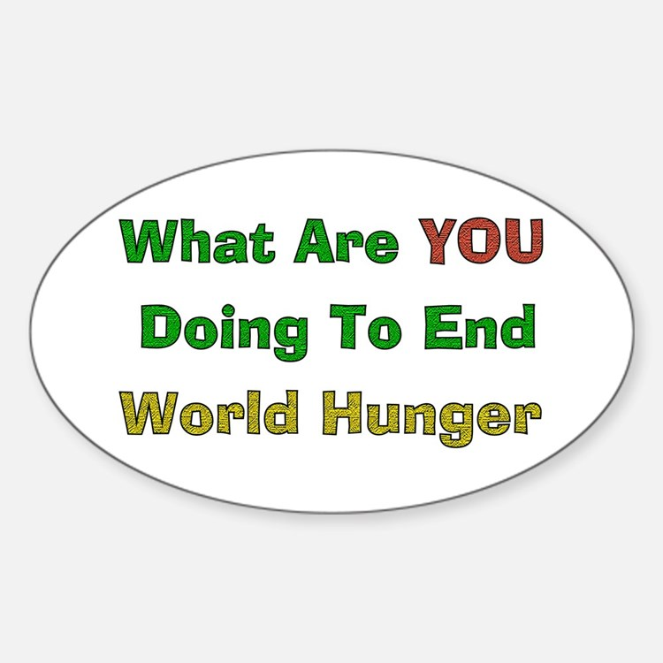 End World Hunger Oval Decal