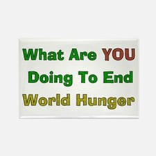 End World Hunger Rectangle Magnet
