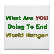 End World Hunger Tile Coaster