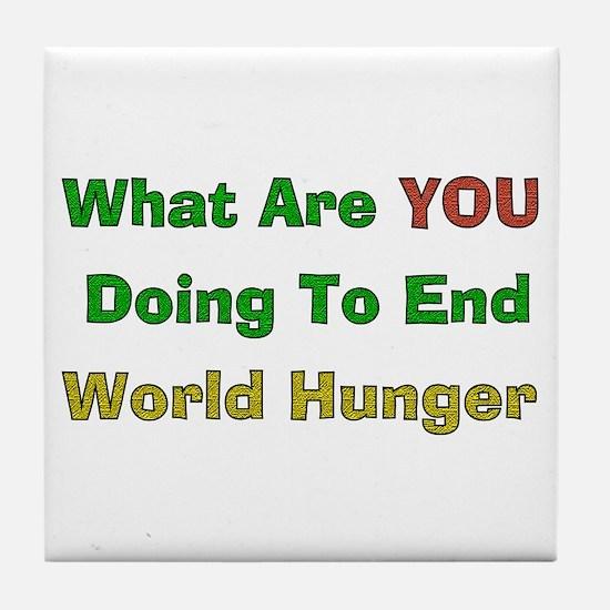 End World Hunger Tile Coaster