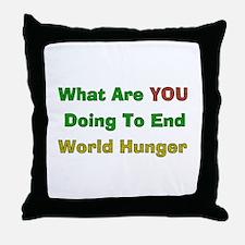 End World Hunger Throw Pillow