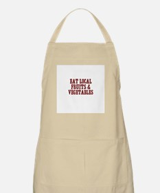eat local fruits & vegetables BBQ Apron