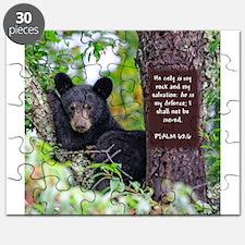 Baby Black Bear - Psalms 62-6 Puzzle