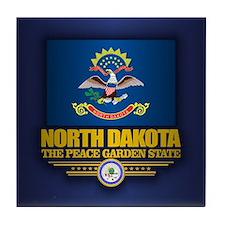 North Dakota (v15) Tile Coaster